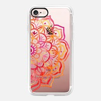 Watercolor Medallion in Sunset Colors on Transparent iPhone 7 Case by Micklyn Le Feuvre | Casetify