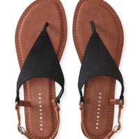 Triangle O-Ring T-Strap Sandal