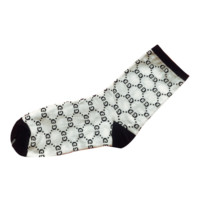 GUCCI fashion new more letter long couple socks women White