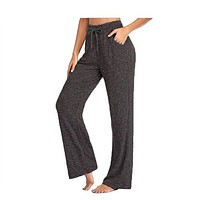 fhotwinter19 explosive casual pants yoga pants quick-drying women's wide-leg pants
