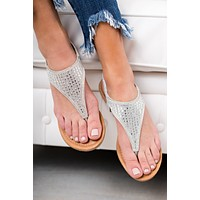 Shine On Sparkle Sandal (Silver)