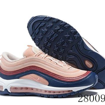 HCXX 19July 1024 Nike Air Max 97 Plum Chalk 921733-802 Flyknit Breathable Running Shoes