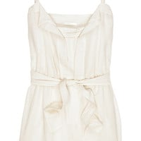 Chloé Belted cotton playsuit – 65% at THE OUTNET.COM