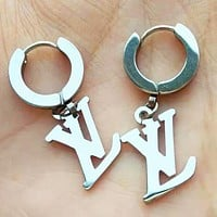 LV Louis Vuitton Hot Sale Women Fashion Letter Pendant Earrings Jewelry Accessories