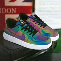 Nike Air foerce 1 AF1 Shining and discoloring low-top men's and women's sneakers Shoes 1