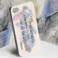 Eeyore Donkey Quotes for iphone 4/4s, iphone 5, Samsung Galaxy S3 i9300, Samsung Galaxy S4 i9500 case