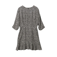 Small Flowers Printed Dress