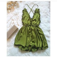 OLIVE GREEN ROMPER (MORE COLORES) sold by FE CLOTHING