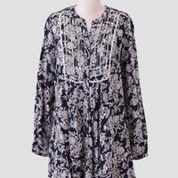 Over The River Printed Dress