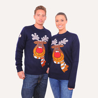 Rudolph the Reindeer Christmas Jumper from Funky Christmas Jumpers
