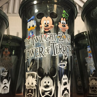 disney parks tumbler with straw the twilight zone tower of terror mickey new