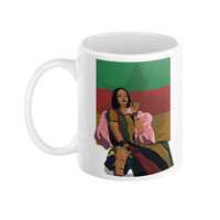 Rihanna Drake Work Video Illustration Ceramic Coffee Mug