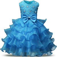 Lace Baby Dresses Girls Kids Evening Party Dresses For Birthday Christmas Gift Toddler Girl Clothes Age Size 3 4 5 6 7 8 Years