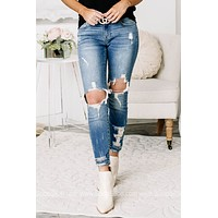 Shoot For The Sky Cropped Skinny Jeans