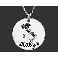 Italy Necklace | Personalized Italy Necklace