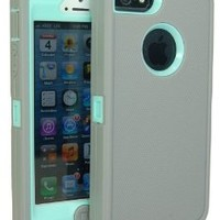 Generic Carrying Case for iPhone 5/5s - Non-Retail Packaging - Grey/Light Blue
