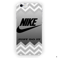 Gray Chevron Nike Just Doit Style For iPhone 6 / 6 Plus Case