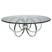 Pre-owned Mid-Century Chrome Ring Coffee Table