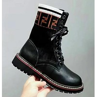 FENDI Fashion Women Leather Shoes Boots I13633-1