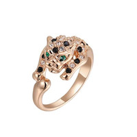 Snow Leopard Rose Gold Ring