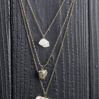 3 Tiered Stone Center Necklace