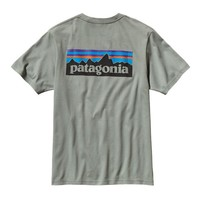Patagonia Men's P-6 Logo Organic Cotton T-Shirt | Java Brown