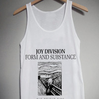Joy Division Form and Substance for Tank Top Mens and Tank Top Girls