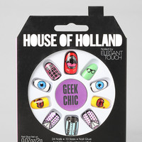 House Of Holland X Elegant Touch Geek Chic Faux Nail Set - Urban Outfitters