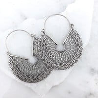 Glamour Hour Silver Earrings
