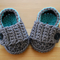 Baby Boy Booties Loafer Style  - You Choose Colors, Baby Boy Clothes, Baby Boy