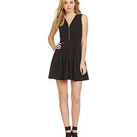 Guess Bow-Back Fit-and-Flare Dress - Black