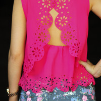 With Such Precision Top: Fuchsia | Hope's