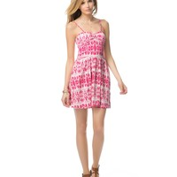 Aeropostale Womens Printed Bustier Dress - Pink,