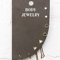 Hoop Chain and Stud Earrings Pack - Urban Outfitters