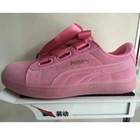 PUMA BOW Trending Fashion Casual Sports Shoes knot pink