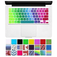 """DHZ Unique Ultra Thin Durable Keyboard Cover Silicone Skin for MacBook Pro 13"""" 15"""" 17"""" (with or w/out Retina Display) iMac and MacBook Air 13"""" (Rainbow 5)"""
