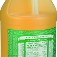 Dr. Bronner's Pure Castile Soap - Fair Trade And Organic - Liquid - 18 In 1 Hemp - Almond - 1 Gal  10% Off Auto renew