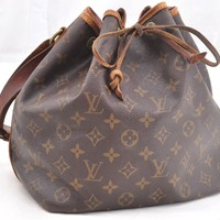 Authentic Louis Vuitton Monogram Petit Noe Shoulder Bag M42226 LV 52596