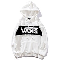 Vans 2019 new colorblock hooded sweater white