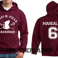 MAHEALANI 6 Beacon Hills Lacrosse Wolf 6 Number  Teen Unisex Hoodie - Tumblr Text - Part 2