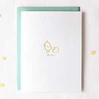 Baby Boy Chick Card