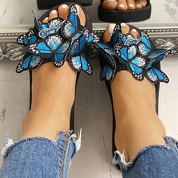 New women's shoes butterfly women platform sandals and slippers