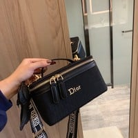 Dior new retro women's cosmetic bag handbag messenger bag