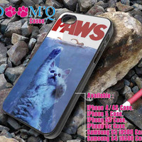 Paws Movie Parody Funny cat iPhone case, iPhone 4/4S, 5, 5S, 5C Case, Samsung S3, S4 Case By Doomqcases for Accessories beautiful