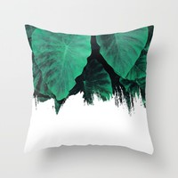Painting on Jungle Throw Pillow by Cafelab