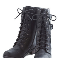 ModCloth Urban Tread and Done Boot in Black