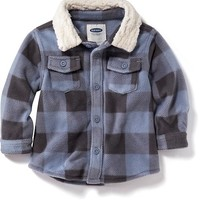 Old Navy Plaid Sherpa Lined Top For Baby
