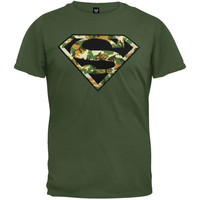 Superman - Digi Camo Logo Youth T-Shirt (Size: M, Color: Dark green) = 1946383172