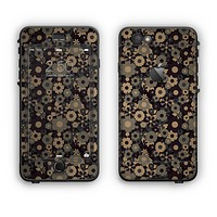 The Tiny Gold Floral Sprockets Apple iPhone 6 Plus LifeProof Nuud Case Skin Set