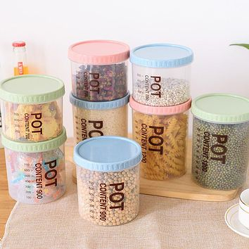Kitchen Transparent Seal Pot Plastic Household Grain Can Receive A Case A Undertakes To Food Storage Tank